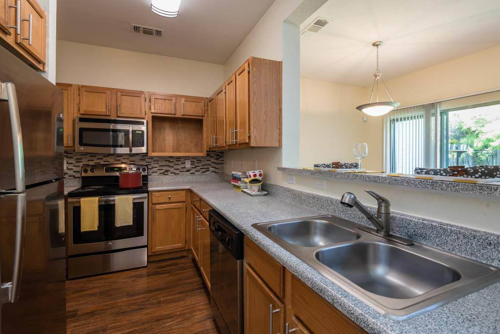 Kitchen at apartments in Fort Worth, TX