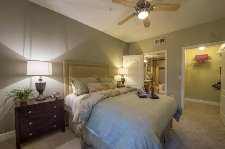 Bedroom at apartments in Katy, TX