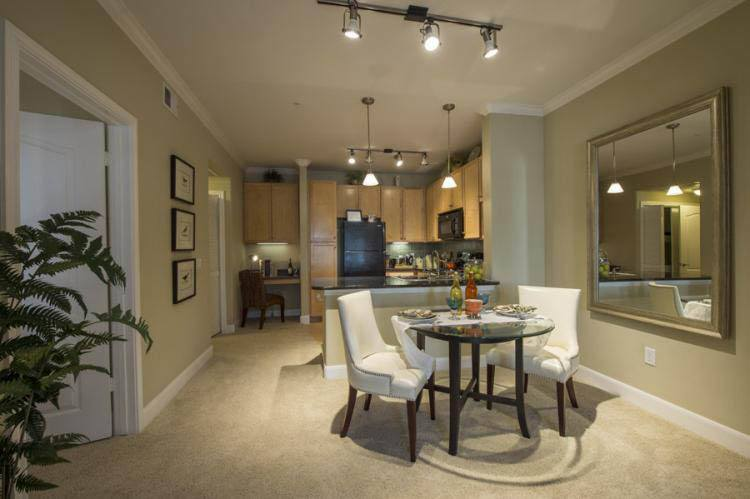 Dining room at apartments in Katy, TX