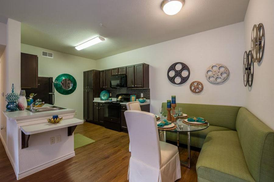 Kitchen at apartments in San Antonio