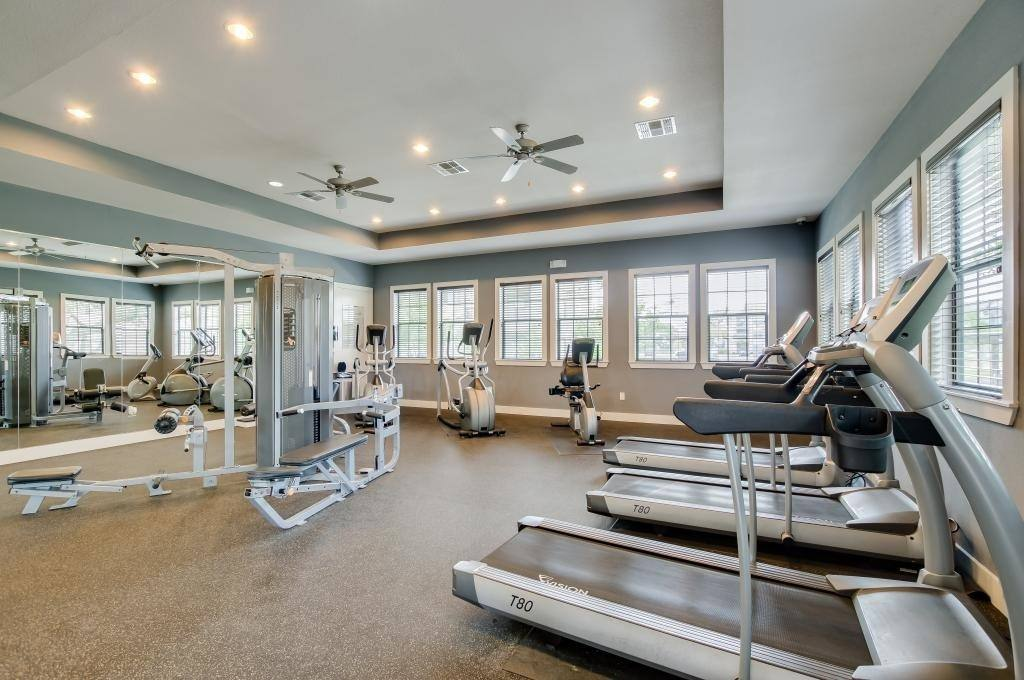 Gym at apartments in TX