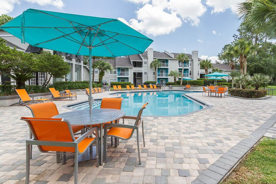 Pool at apartments in Orange Park