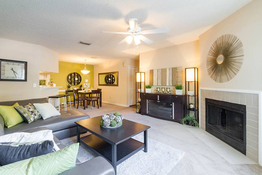 Living room at apartments in Orange Park