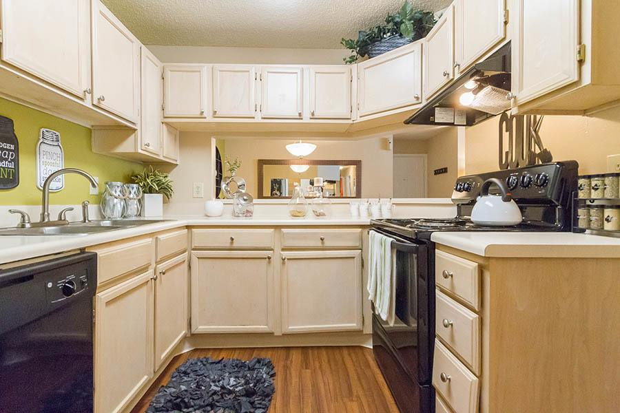 Kitchen at apartments in Orange Park