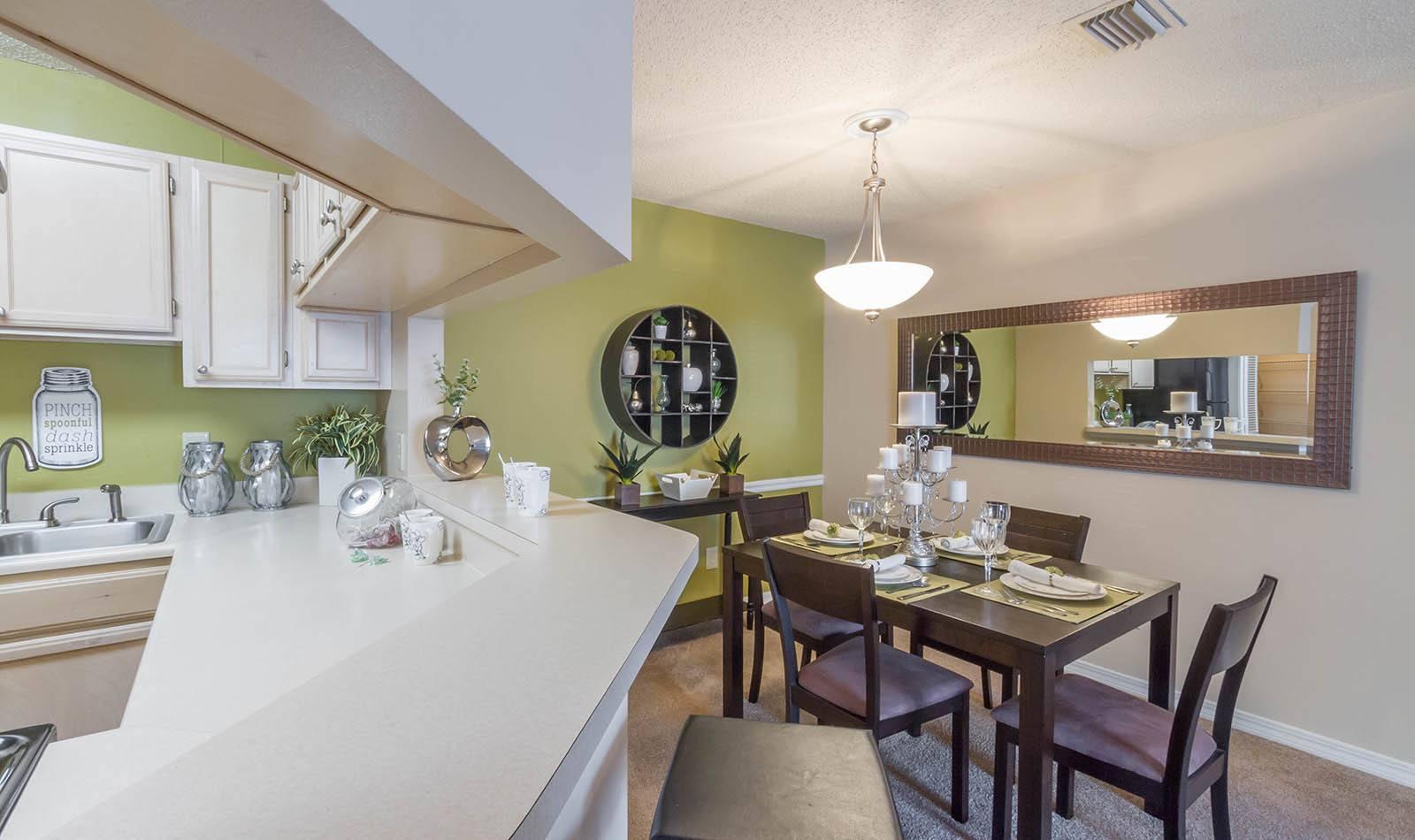 Dining room at apartments in Orange Park, FL