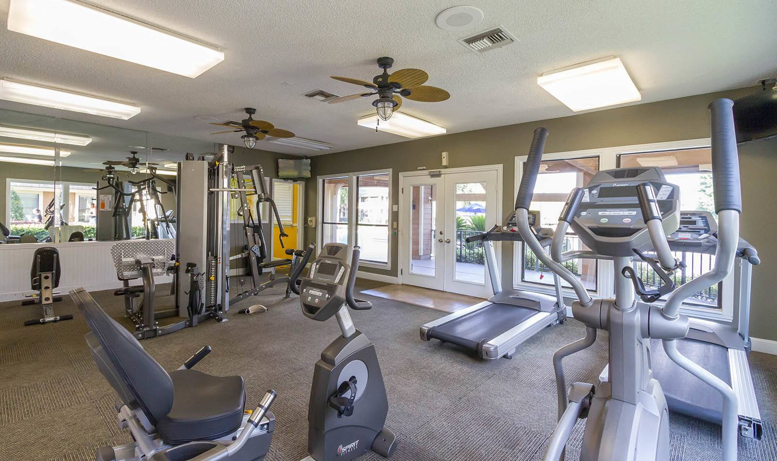 Fitness center at apartments in Orange Park, FL