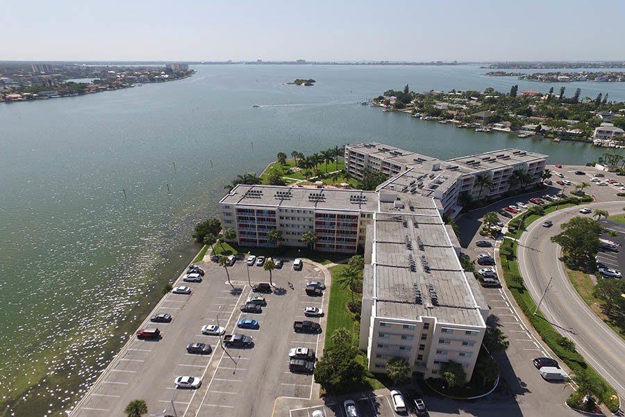 Aerial view at apartments in South Pasadena