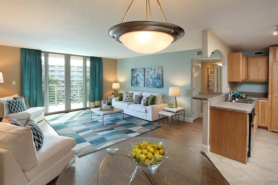 Living room at apartments in South Pasadena
