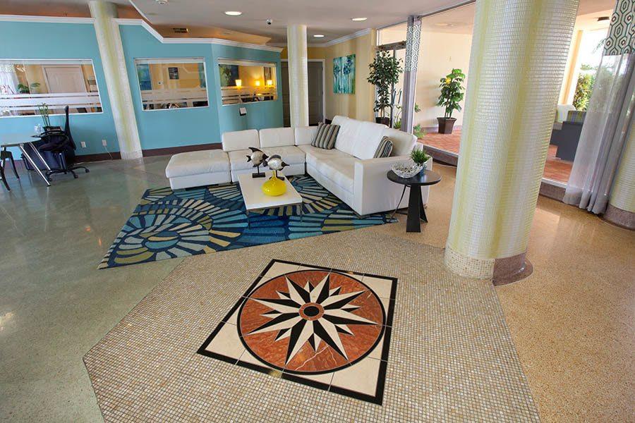 Lobby at apartments in South Pasadena