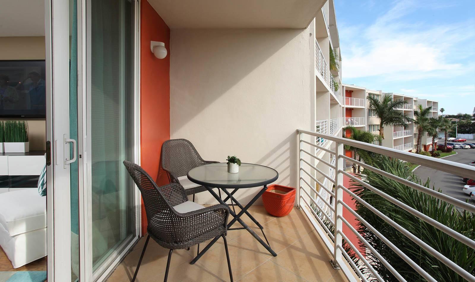 Balcony at apartments in South Pasadena, FL