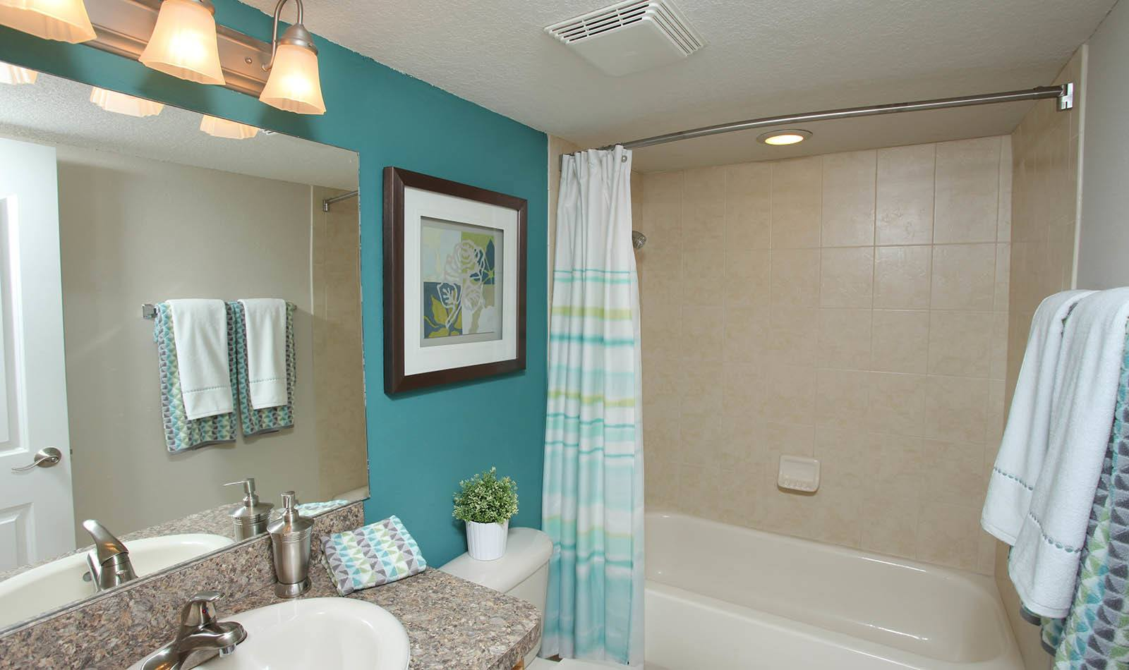 Bathroom at Waters Pointe Apartments in South Pasadena, FL