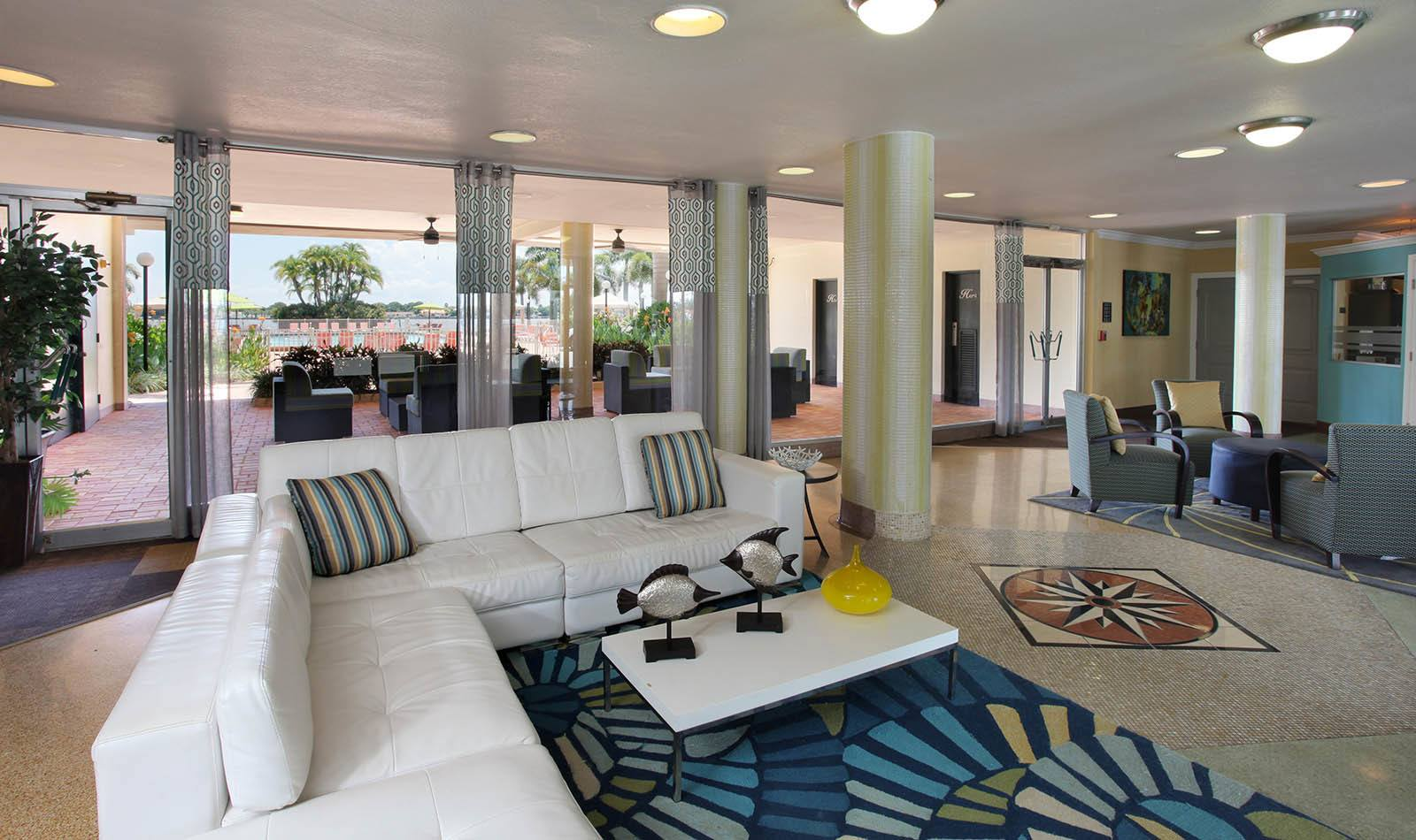 Lobby at Waters Pointe Apartments in South Pasadena, FL