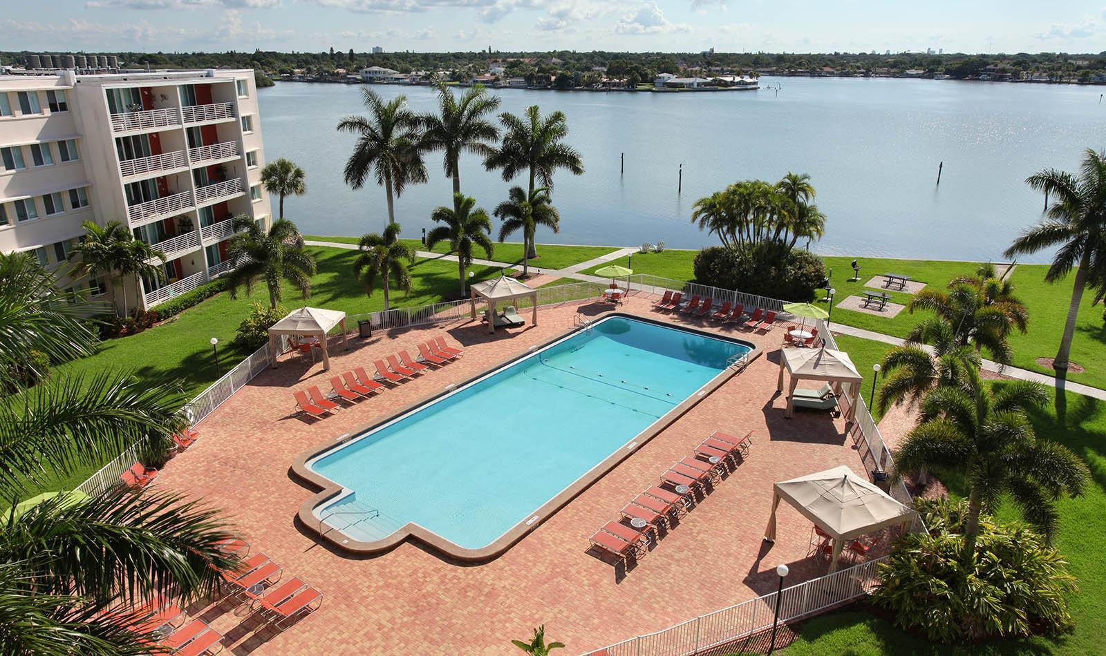 Pool at apartments in South Pasadena, FL