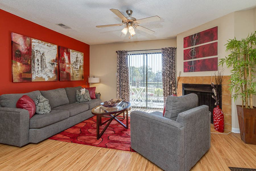 Living room at apartments in Tampa