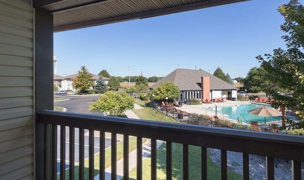 Balcony At Apartment Rentals In Aurora Illinois