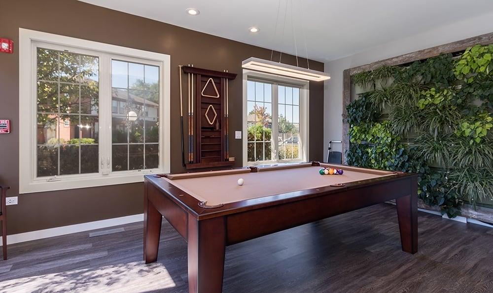 Pool Table At Apartment Rentals In Aurora Illinois