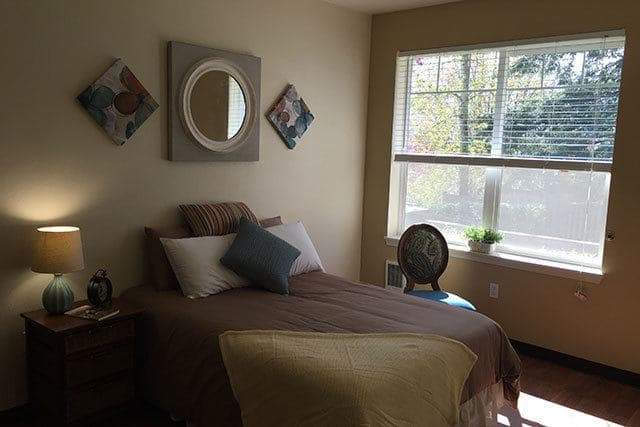 A cozy private room at Regent Court Senior Living.