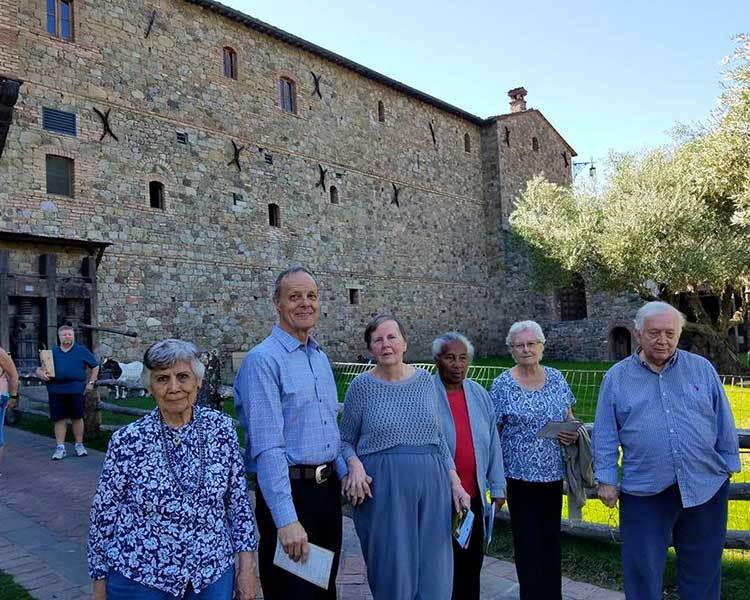 A castle visited by residents at Sun Oak Senior Living