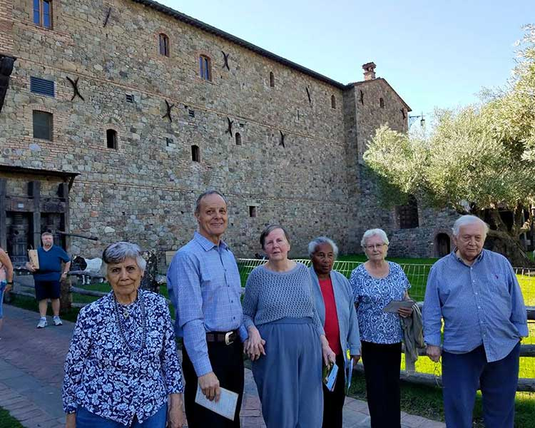 Residents of Sun Oak Senior Living at a castle!
