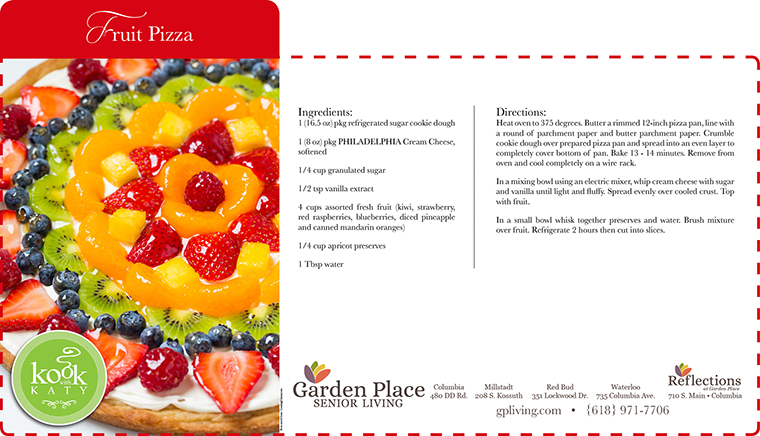 Recipe for delicious friet pizza at Garden Place Senior Living Business Office