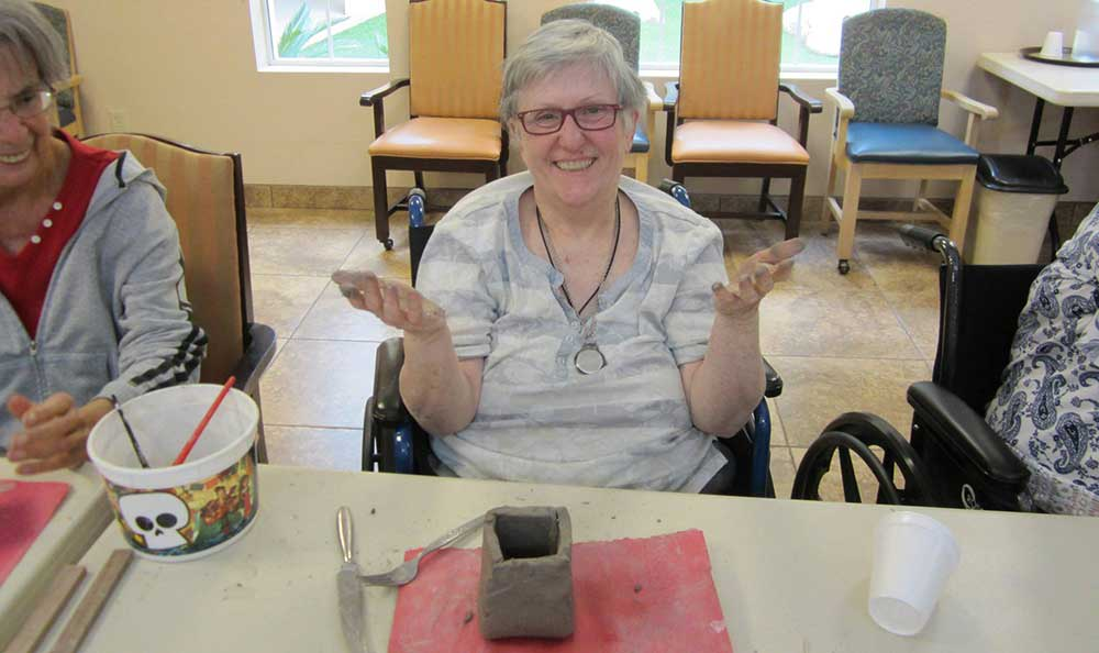 Crafts can get messy, but they are fun  at Pennington Gardens