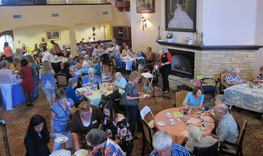 Pennington Gardens hosts a Mother's Day Tea party.