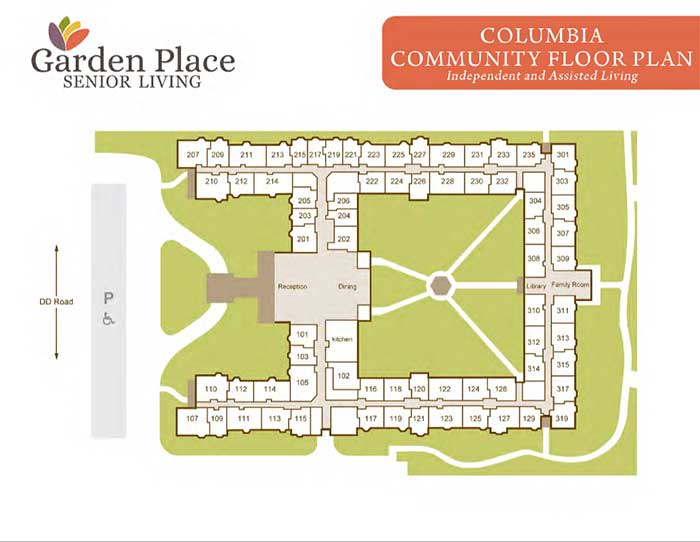 Garden Place Columbia community plan