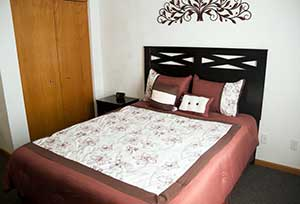 A bedroom example at Garden Place Red Bud