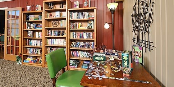 Library at Carolina Assisted Living in Appleton