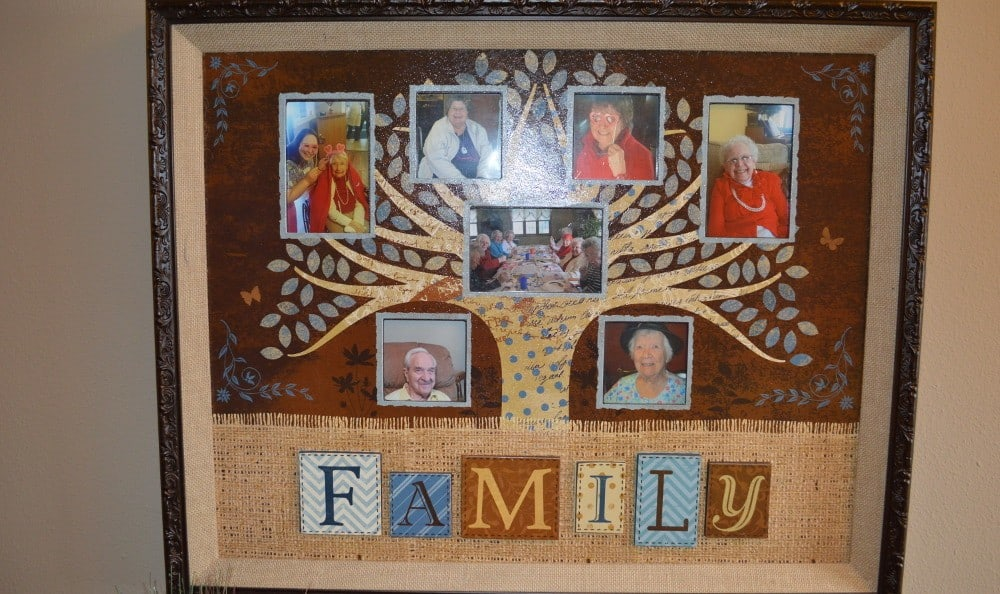 A collage of the family at Carrington Assisted Living