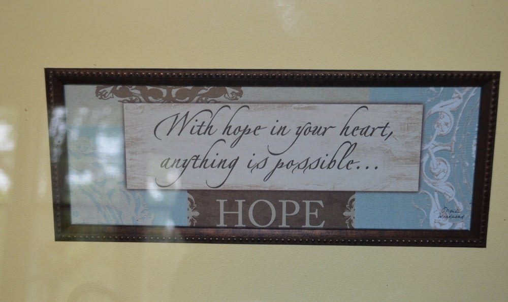 A Beautiful quote on the wall at Carrington Assisted Living