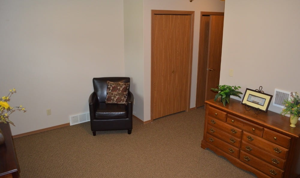 A sitting room for residents at Carrington Assisted Living