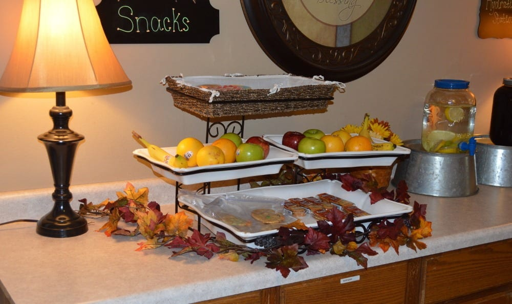 There is always something to snack on at Carrington Assisted Living