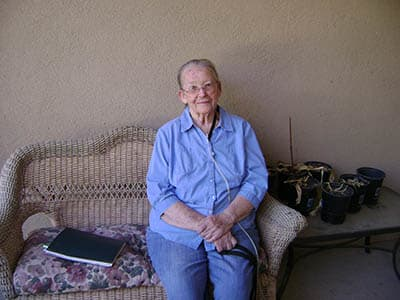 Woman at Desert Peaks Assisted Living and Memory Care in Las Cruces