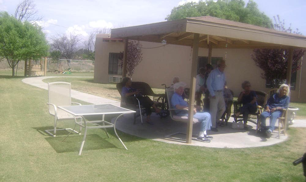 The grounds at senior living in Las Cruces