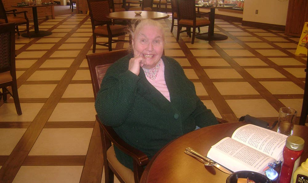 Happy resident at senior living in Las Cruces