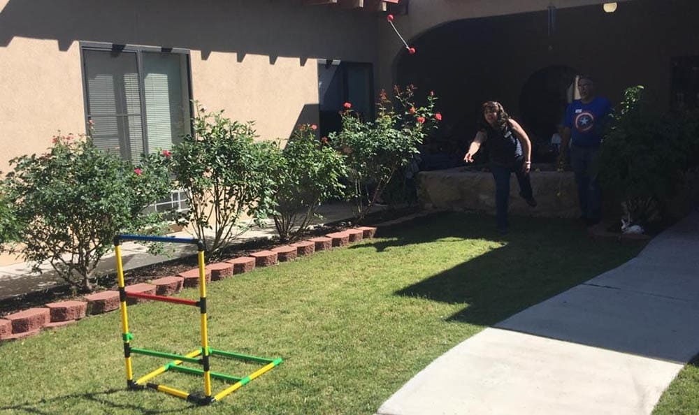 Ladder ball at senior living in Las Cruces