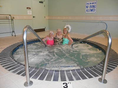 Residents enjoy a spa day