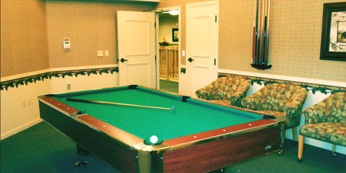 Billiards at our senior living community
