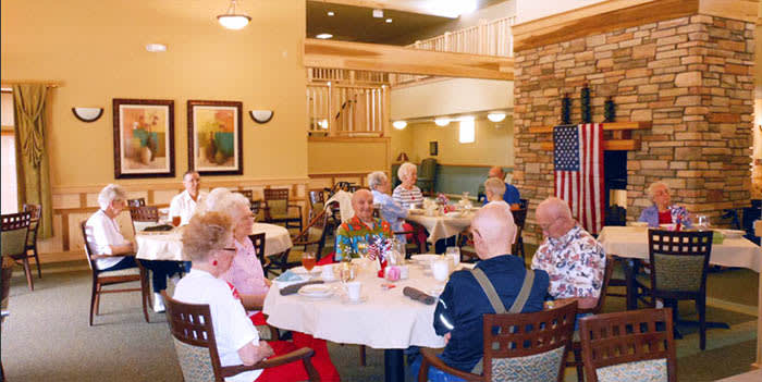 Dining at our senior living community