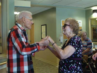 Dancing at senior living in Redding