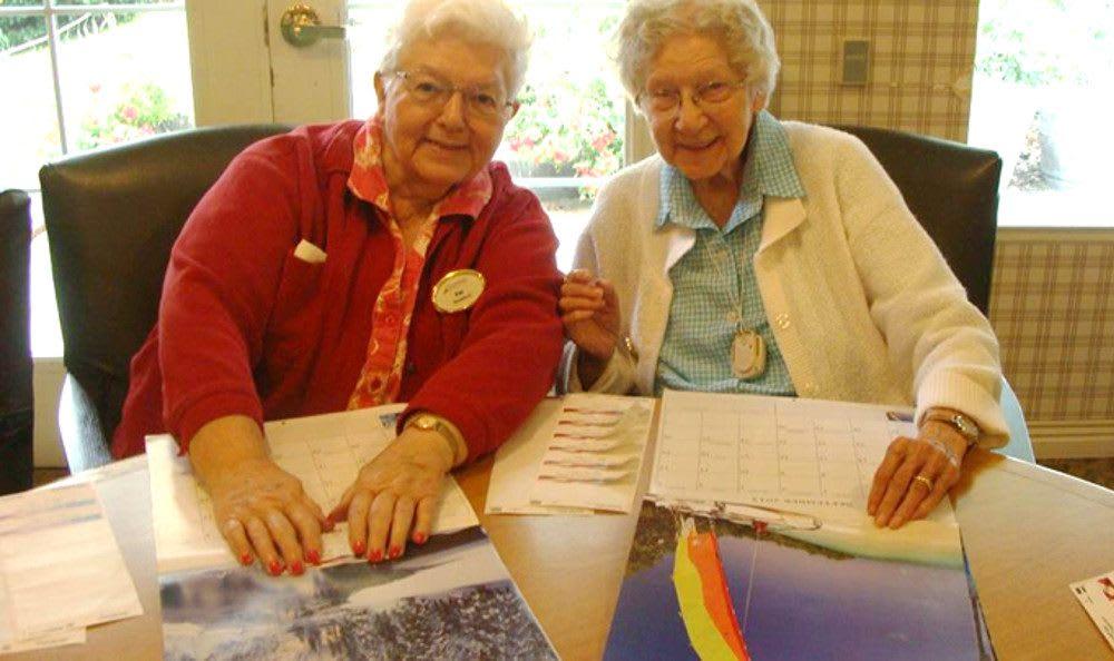 Happy ladies at our senior living community