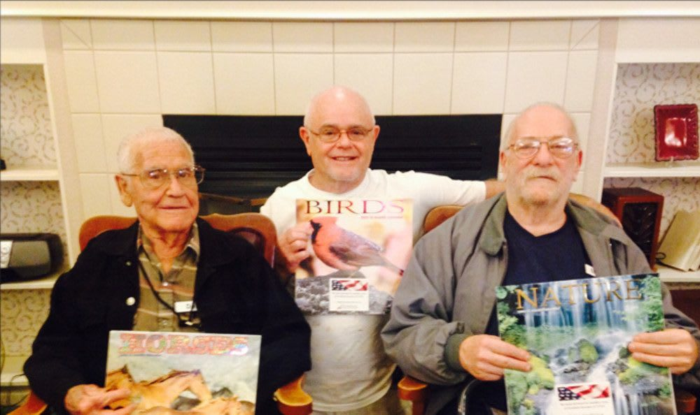 Three men at our senior living community