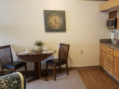 resident kitchen and dining room
