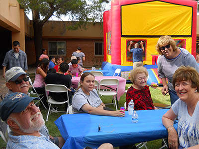Outdoor festival at our senior living community