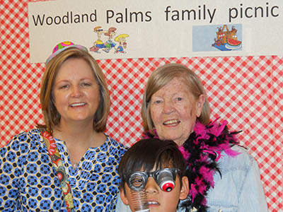 Residents having fun at Woodland Palms Memory Care