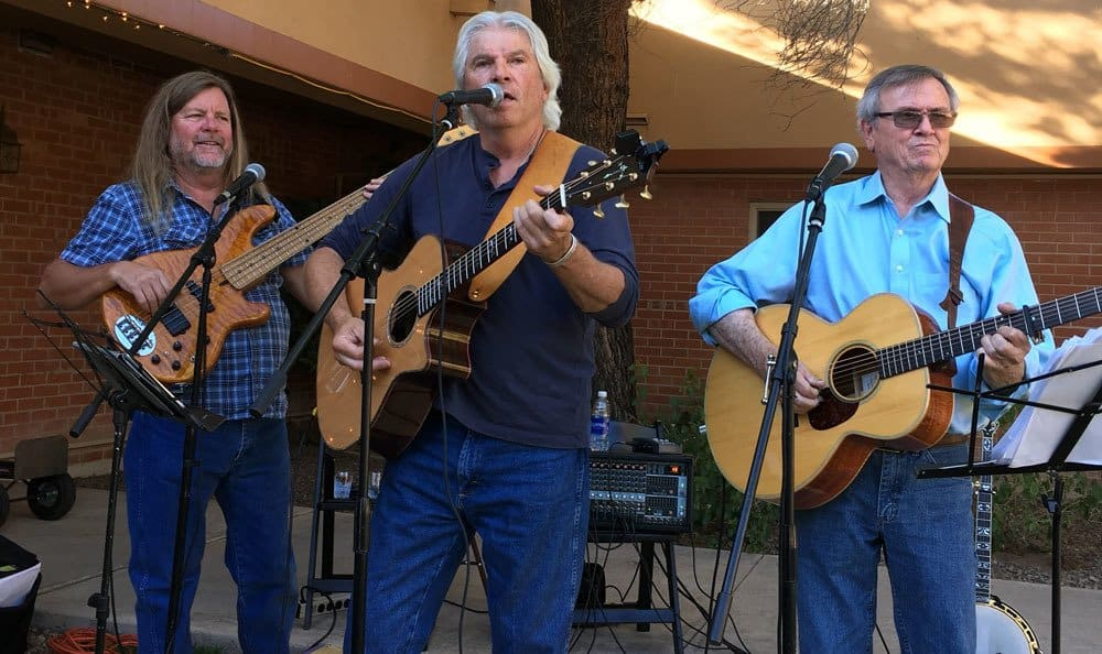 A band performing at Woodland Palms Memory Care in Tucson, AZ
