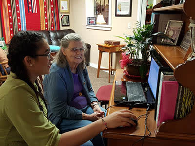 Computer time at our senior living community