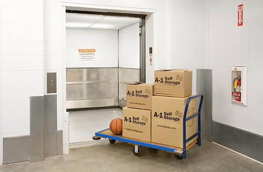 Large Self Storage Elevator at A-1 Self Storage in Alhambra, CA