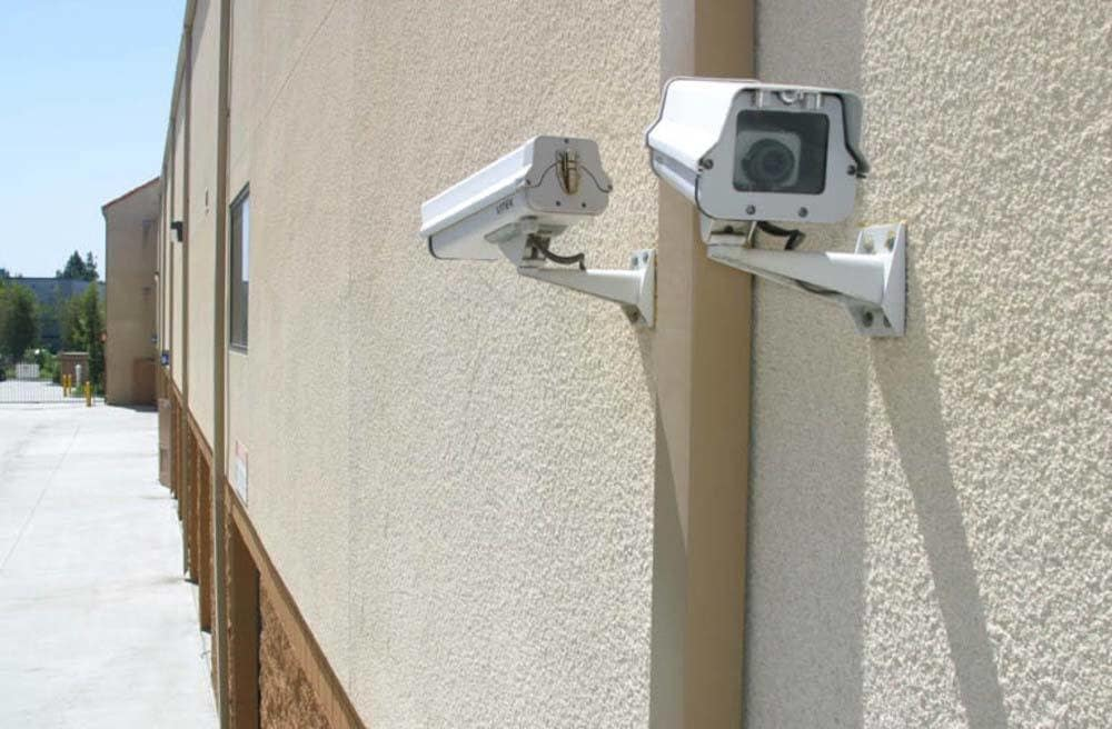 Large Security Cameras at A-1 Self Storage in Anaheim, CA